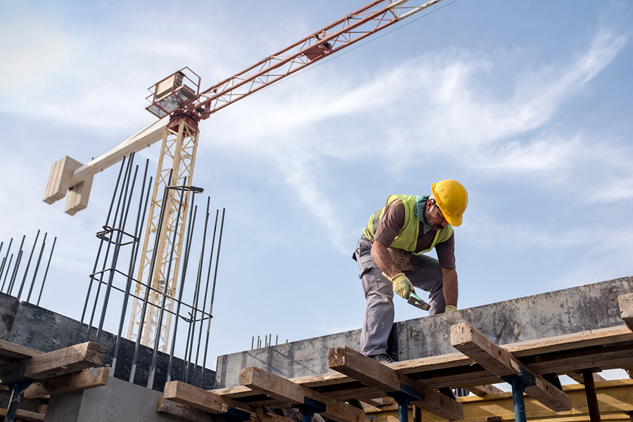 image of construction worker at site